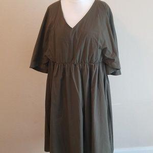 Olive color Cape dress